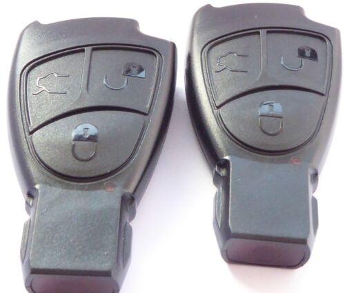 2x Clé Boîtier Mercedes Benz Télécommande smartkey 3 boutons poussoir