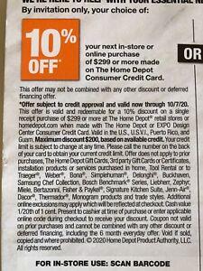 Home Depot Coupon 10% Off   eBay