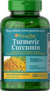 Puritan-039-s-Pride-Turmeric-Curcumin-500-mg-180-Capsules