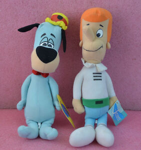 "2 Hanna Barbera Plush Collection_George Jetson & Huckleberry Hound_16"" Tall."