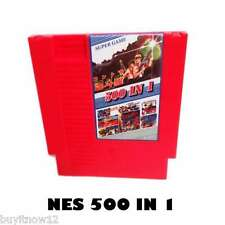 NES Games 500 in 1 Classic Nintendo NTSC PAL 72 Pins 8 bit Video Cart Cartridge