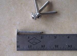 """Stainless Steel Pan Head Phillips Sheet Metal Screws #14 X 2/"""" 25 CT"""