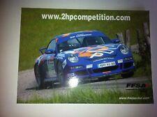 CP POSTCARD CARTOLINA PORSCHE 911 HOT RALLY RALLYE WRC 2009