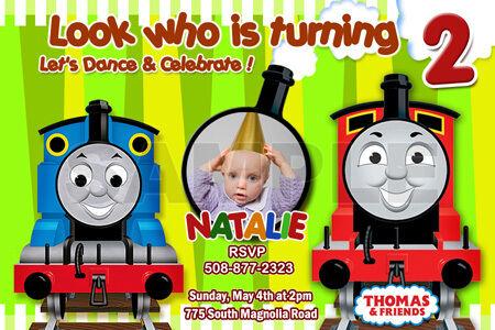 Buy Thomas The Tank Train 1st Birthday Party Invitation C6