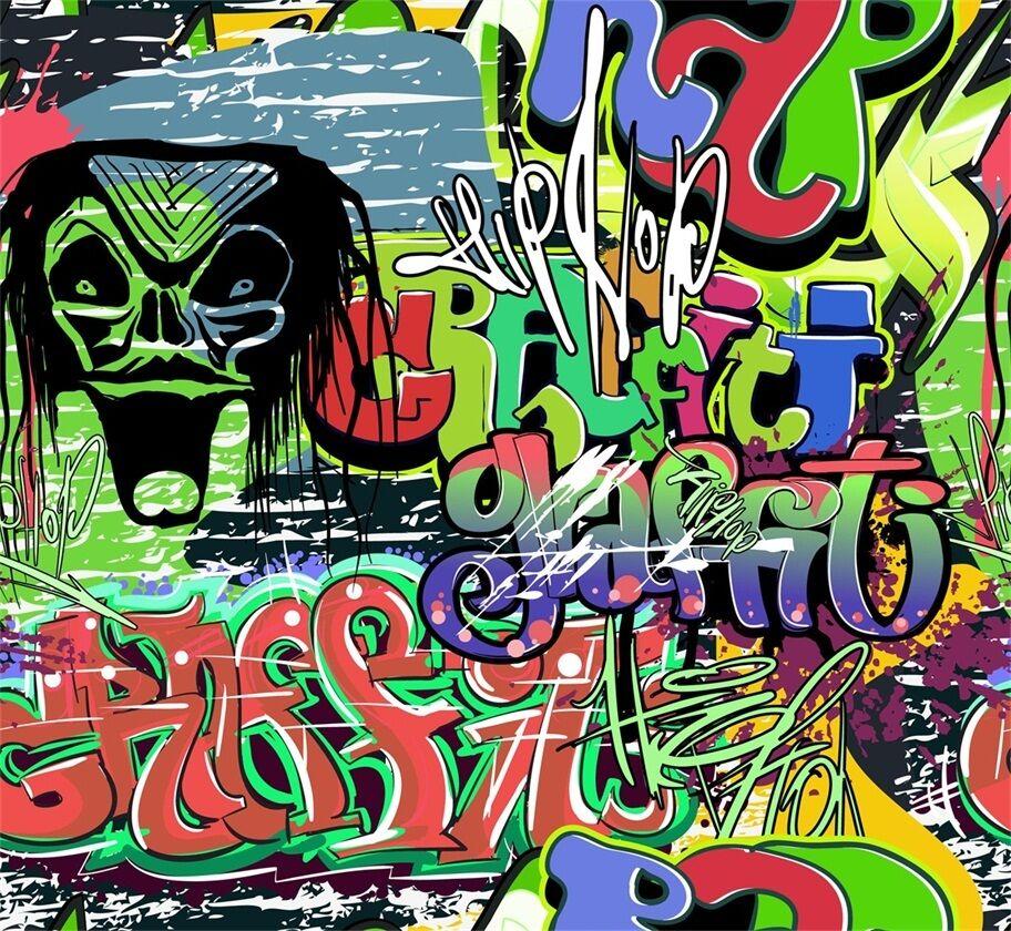 3D Grimacer Papier Photo Papier Grimacer Peint en Autocollant Murale Plafond Chambre Art 084a96