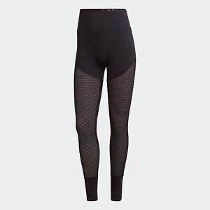 adidas AU Women Black Karlie Kloss Mesh High-Waist Long Tights