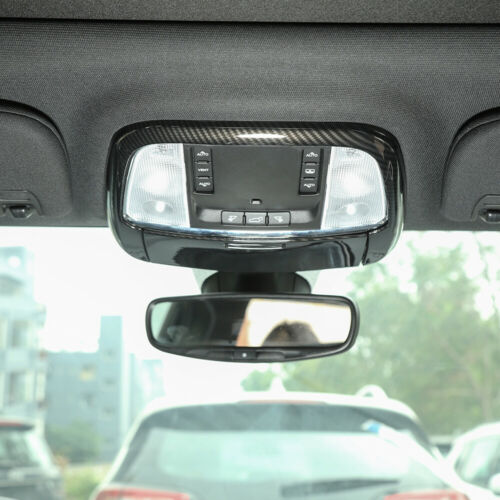 Roof Reading Light Lamp Cover Trim For Jeep Grand Cherokee 2011-19 Carbon Fiber