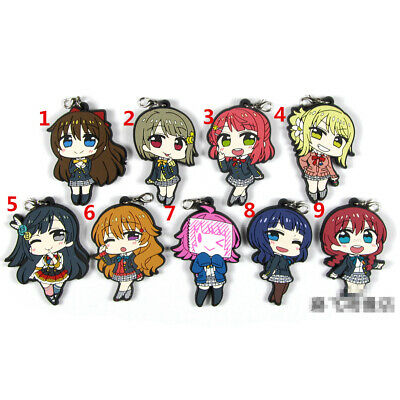 sunshine rubber Keychain Key Ring Straps Rare cosplay A T946 Anime LoveLive