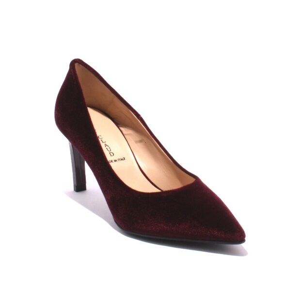 Mary Claud 8117 Burgundy Velour   Leather Pointy   Heel Pumps 38.5   US 8.5