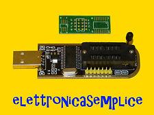 programmatore CH341A USB EEPROM 24 e 25 BIOS RAM (software italiano) (C170)