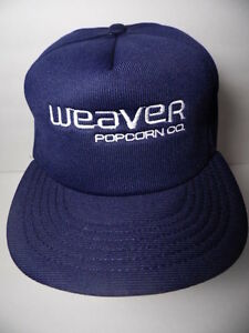 Image is loading WEAVER-POPCORN-COMPANY-Snack-Advertising-NAVY-SNAPBACK-HAT- 54f8dc121ac