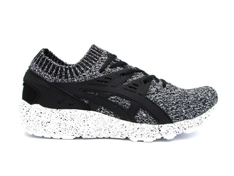 ASICS GEL-KAYANO TRAINER KNIT SNEAKERS BIANCO NERO HN7Q2-0190