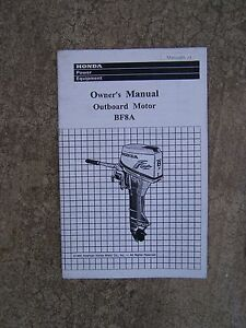 1990 honda bf8a outboard motor owner manual more boat items in our rh ebay com honda bf8a owners manual honda bf8a repair manual