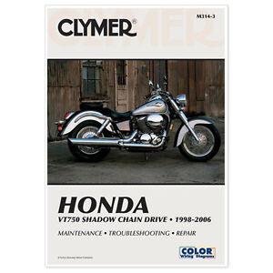 clymer repair manual honda shadow ace vt750c 1998 00 vt750cd ace rh ebay com 1997 Honda Shadow Ace 2003 honda shadow ace 750 repair manual