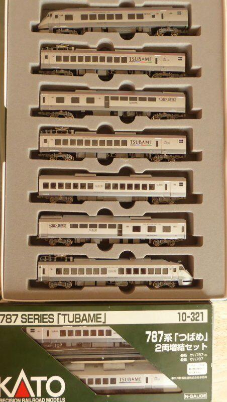 N Kato 10-320+10-321 Series 787 Tsubame 9 pezzi ad alta velocità motori auto