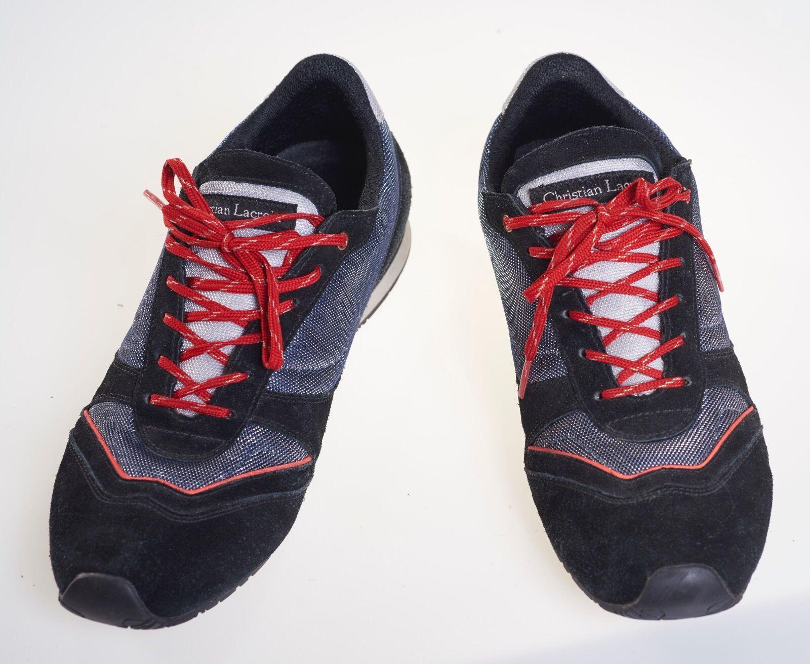 Christian Lacroix Zapatillas Zapatillas Zapatillas deportivas para mujer Talla 39 US8, Negro Gamuza De Malla Metálica  salida de fábrica
