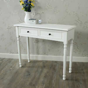 White Wooden Dressing Table Console Table Shabby Vintage Chic ...