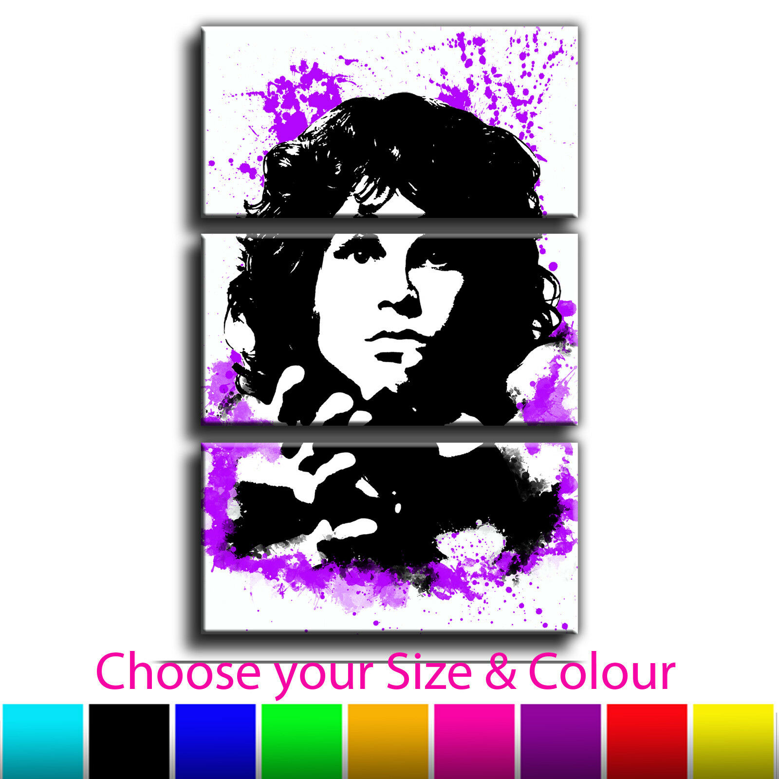 Jim Morrison Canvas Abstract Iconic Art Print Treble Box Framed Picture