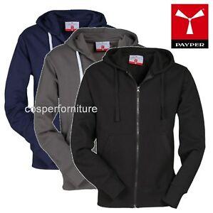 Felpa-uomo-con-cappuccio-zip-intera-tasche-maglia-cotone-sport-portland-Payper