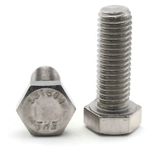 5//8-11 X 3 Hex Tap Bolt 316 Stainless Steel Package Qty 100