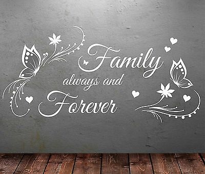 ALWAYS AND FOREVER Quote HEATWAVE,Vinyl Wall Art Sticker Decal,Mural,lyrics i20