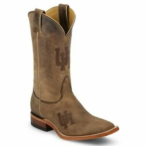 Nocona-MDUH12-Men-039-s-University-of-Houston-Brown-Cowhide-Branded-College-Boots