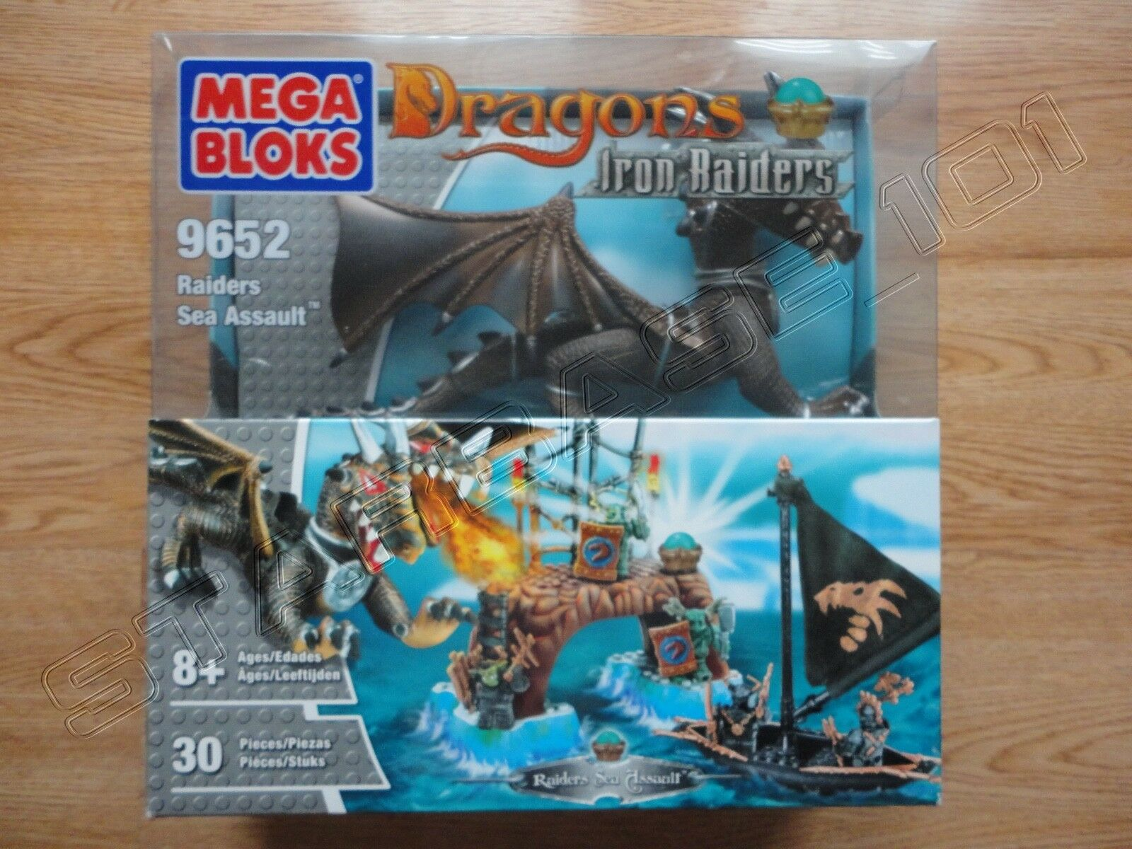 Seltene mega - bloks drachen eisen piraten piraten meer angriff   9652 - neu   versiegelt