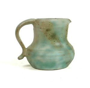 Vintage-Studio-Art-Pottery-Glazed-Stoneware-Jug-Pitcher-1992-Handthrown-Signed