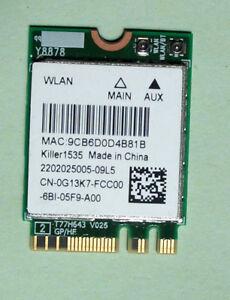Killer1535-Model-QCNFA364A-802-11ac-867Mbps-Bluetooth-4-1-0G13K7