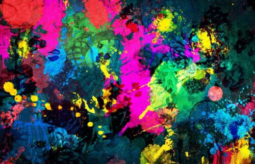 Encadrée Imprimer-Coloré Graffiti Street Art (photo Poster Rose Vert Bleu)