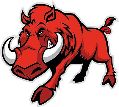 "Cartoon Bull Mascot Wild Animal Car Bumper Sticker Decal 5/"" x 4/"""
