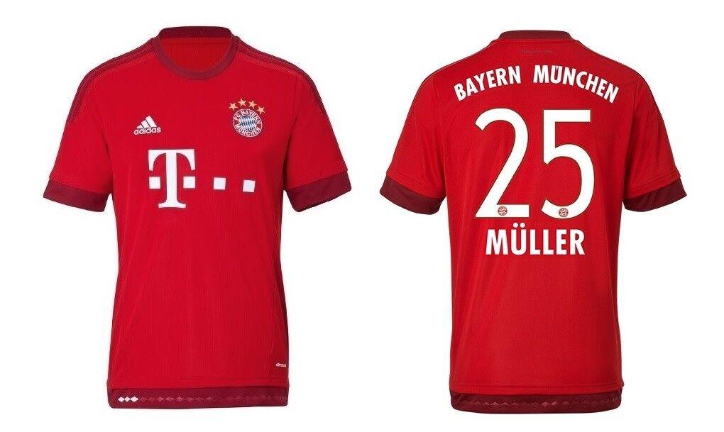 Trikot Adidas FC Bayern 2015-2016 Home - Thomas Müller  FCB    Kostengünstig