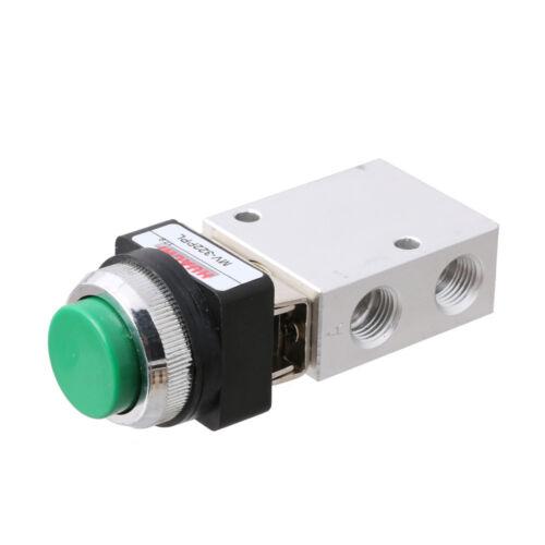 """2pcs 3 Way 2 Position Pneumatic Valve PT 1//4/"""" Push Button Actuator MSV-98322PPL"""