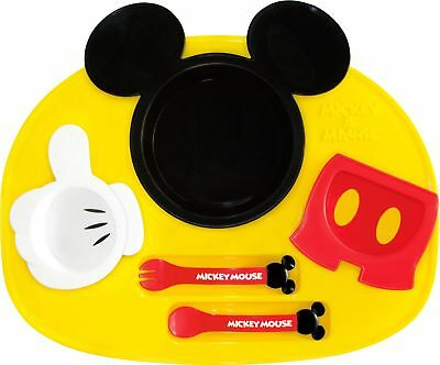 Baby Motivated Nishiki Made In Disney Mickey Mouse Baby Tableware Dishes Set F/s