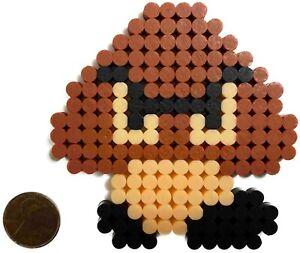 Goomba Bead Sprite Perler Caps Pixel Art Retro Nes Nintendo Super