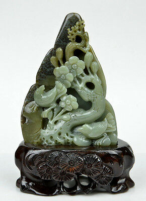 A CHINESE WHITE NEPHRITE JADE FIGURE   eBay