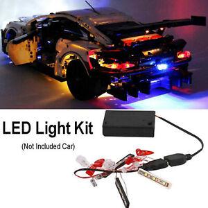 Kit-illuminazione-SOLO-a-LED-per-mattoncini-Lego-42096-Technic-Porsche-911-RSR