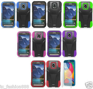 buy popular c0819 c11b7 Details about Samsung Galaxy S5 Sport SM-G860 (Sprint) Phone Cover T-STAND  Case & SCREEN GUARD