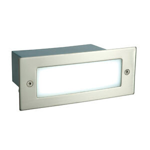 Saxby 60268 Kia Modern Steel Outdoor Garden Recessed IP44 LED Wall Brick Ligh