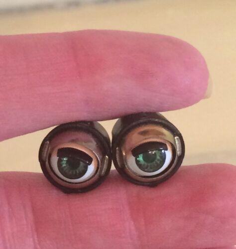 Doll Sleep Moving Eyes 6mm Green Vinyl Doll Eyes Replace Repair Fix Doll Making
