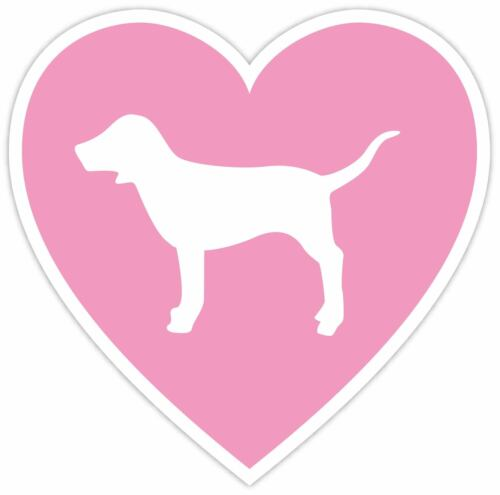 Victoria Secret Pink Heart Love Dog Vinyl Decal Sticker WALL  *SIZES*