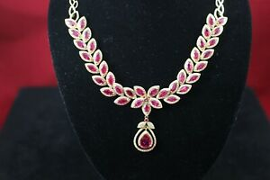 Exclusive-Collection-EFFY-14K-Gold-16-85ctw-Ruby-And-Diamond-Necklace