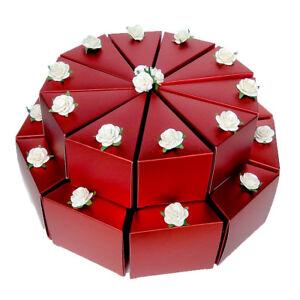 Details Zu Gastgeschenke Schachteltorte Etagentorte Rot Geburtstag Geschenk Verpacken Taufe
