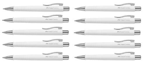 Faber-Castell Kugelschreiber Poly Ball XB weiß x 10 STÜCK