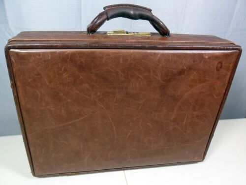 Chocolate Brown Suede Hartmann Halston Suitcase Vintage 21 Ultrasuede and Leather Belting Luggage Chrome Hardware Case
