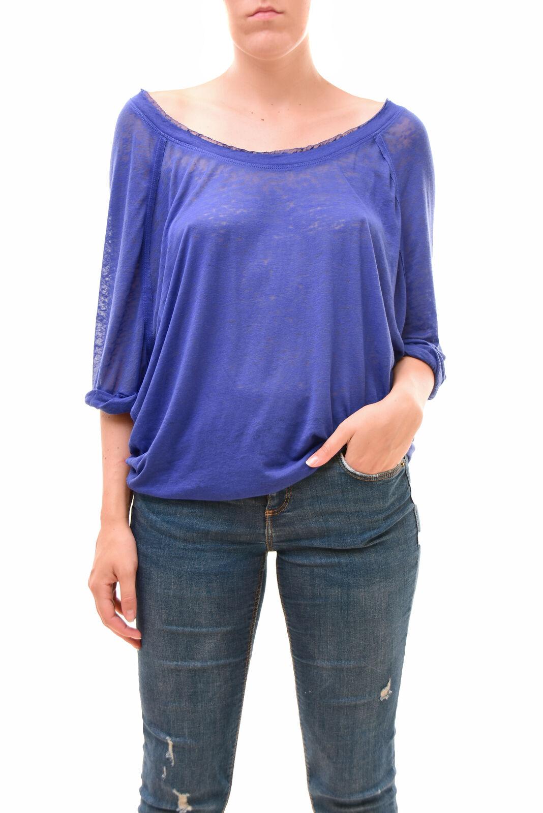 Free People Women's Unique Short Sleeves Moonlight Tee Sky Size XS