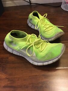 low priced cd8da 33d08 Image is loading Nike-Free-Shoes-Sz-10-Mens-Neon-Green-