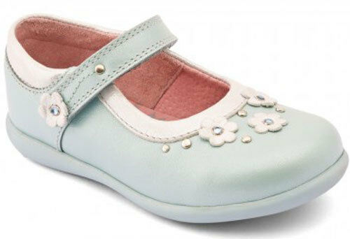 Start Rite ALLIUM LIGHT BLUE Girls Full Leather Shoes 5-8.5 Inf F Fit NEW BOXED