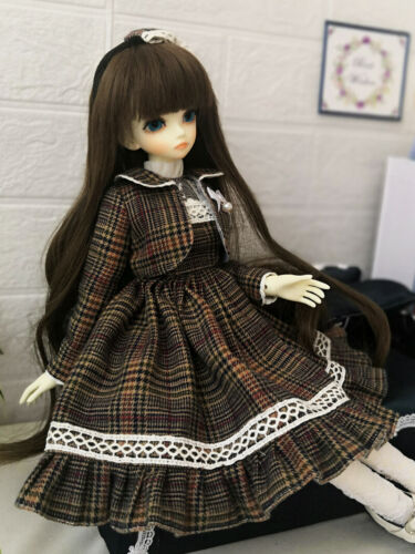 1//4 BJD Clothes MSD Dollfie Doll Lattice BJD Dress/&Coat/&Headwear AOD DOD LUTS DZ