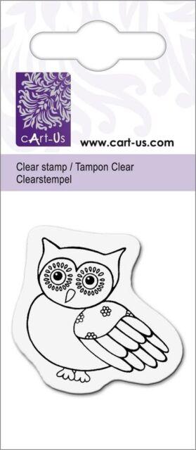 "Stempel ""Eule"" ~ cArt-Us ~ 5x6cm ~ Clear-Stamps ~ Motivstempel ~ NEU"